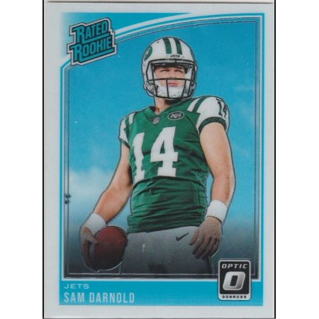 2018 Donruss Optic 151 Sam Darnold New York Jets Rookie Football Card