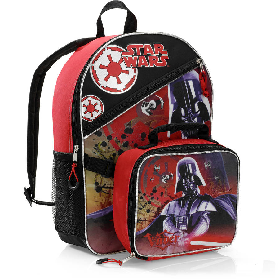Star Wars 16'' Darth Vader Kids Backpack With Detachable Lunch Kit