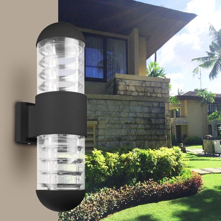 220V Waterproof LED Sconce Up Down Wall Light Lamp Fixture Outdoor Garden Patio ()