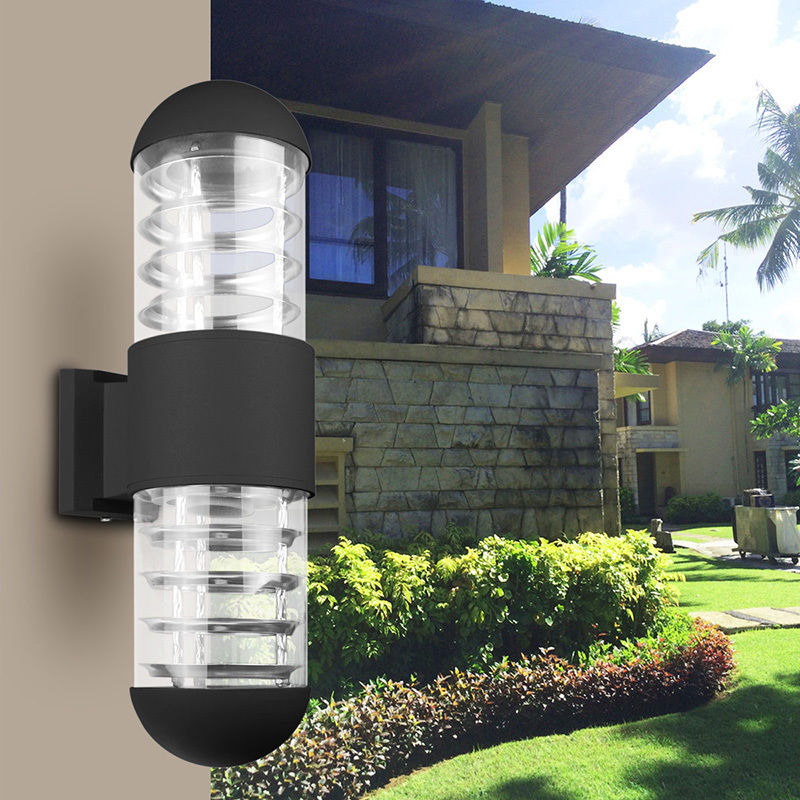 220V Waterproof LED Sconce Up Down Wall Light Lamp Fixture Outdoor Garden Patio