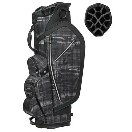 (OGIO Ozone 14 Way Diamond Top 6 Pocket/Cooler Golf Cart Bag, Paranormal/Deep Sea)