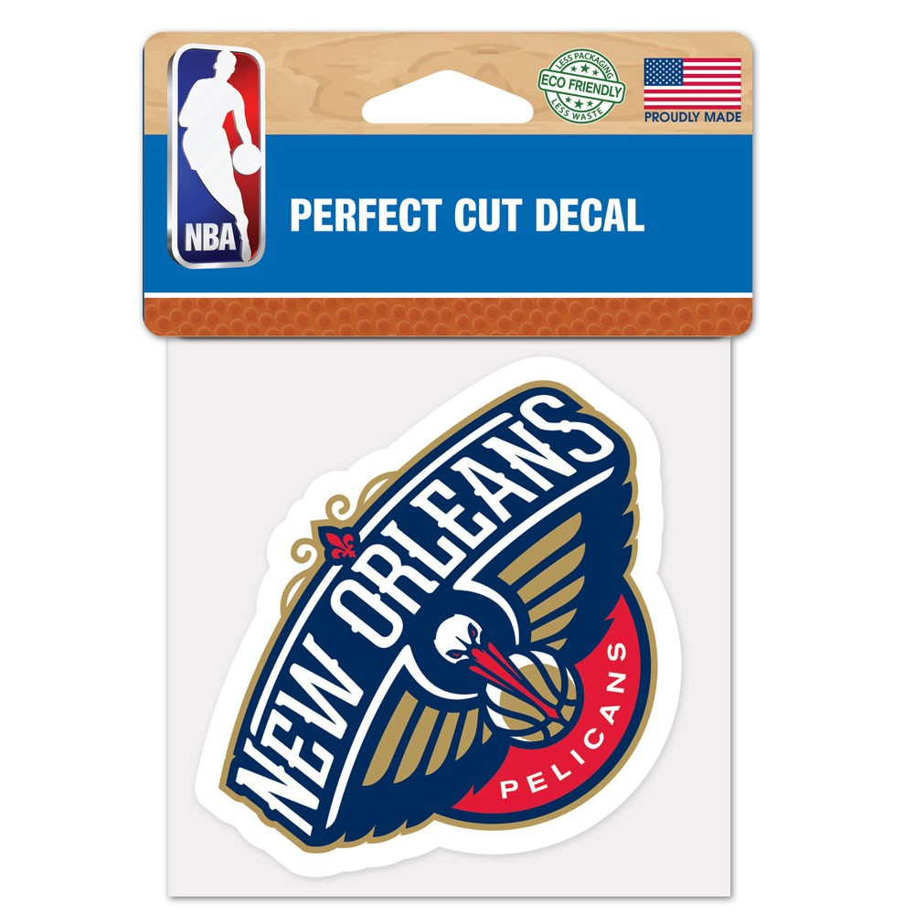 New Orleans Pelicans 4x4 Perfect-Cut Car Auto Decal Sticker