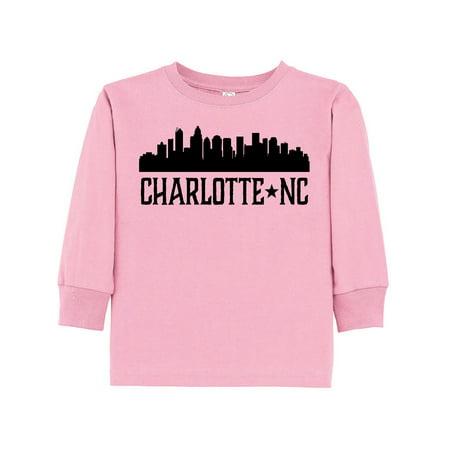 Charlotte North Carolina Skyline Nc City Toddler Long Sleeve T Shirt