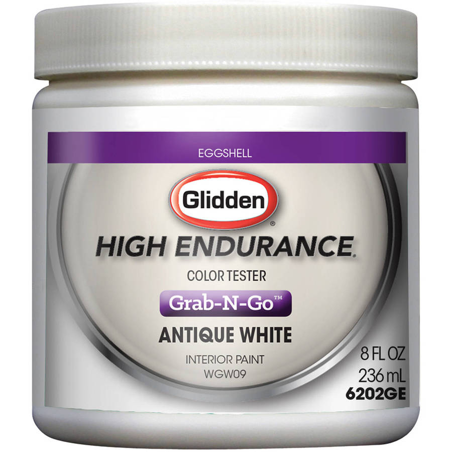 Glidden High Endurance Grab-N-Go Antique White Eggshell Interior Paint Tester 8oz