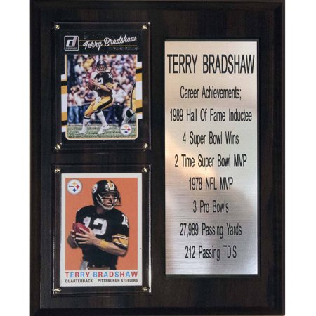C   I Collectables Nfl 8   X 10   Terry Bradshaw Pittsburgh Steelers Career Stat Plaque