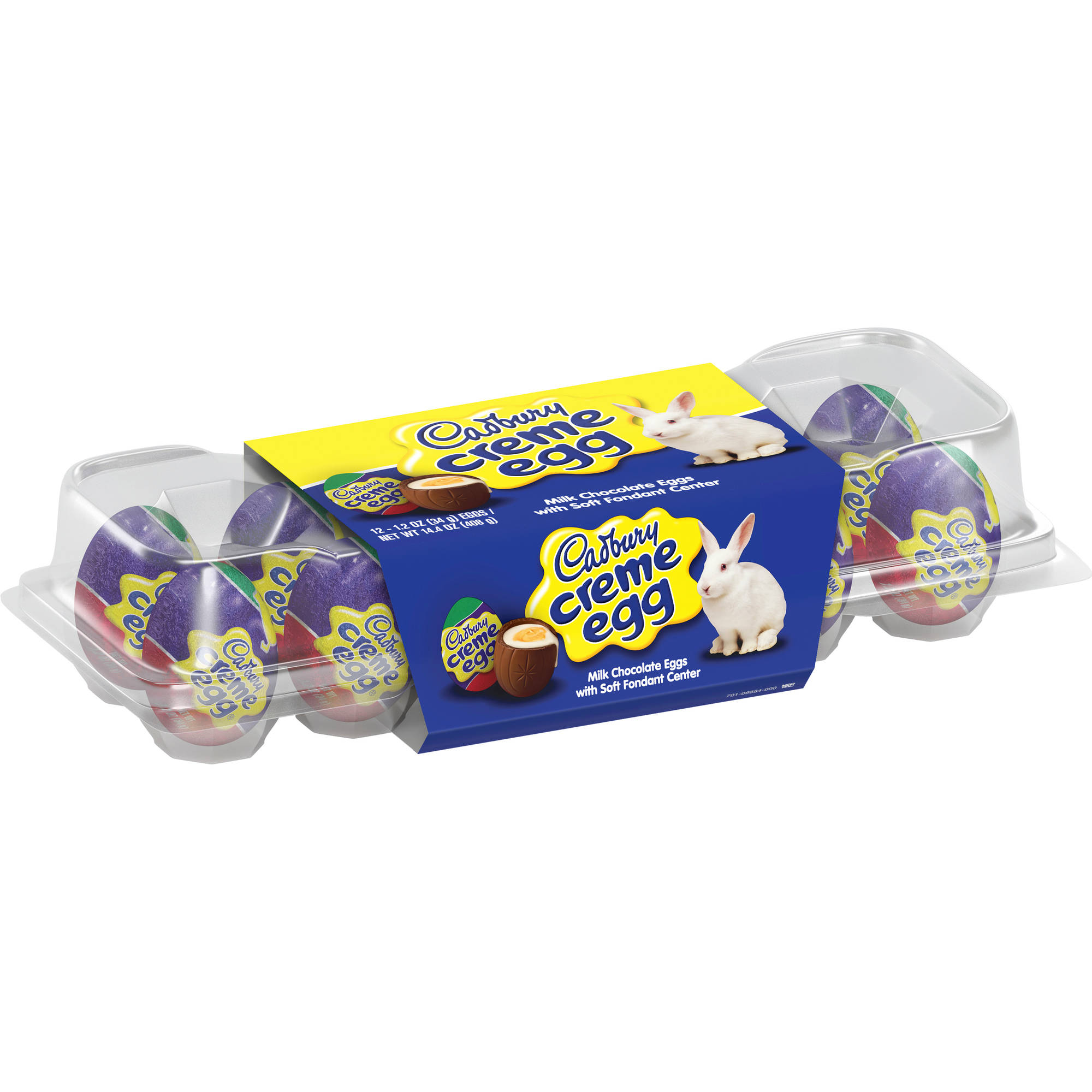 Cadbury Creme Eggs, Easter Milk Chocolate Creme Filled Eggs Candy, 1.2 Oz, 12 Ct