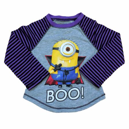 Despicable Me Infant & Toddler Girls Purple Minion Vampire Halloween Shirt 12m - Despicable Me Girl