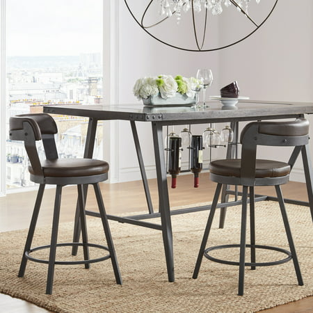 Miraculous Weston Home Reinhold Faux Leather 24 Inch Swivel Chair With Grey Finish Metal Legs Set Of 2 Multiple Colors Forskolin Free Trial Chair Design Images Forskolin Free Trialorg