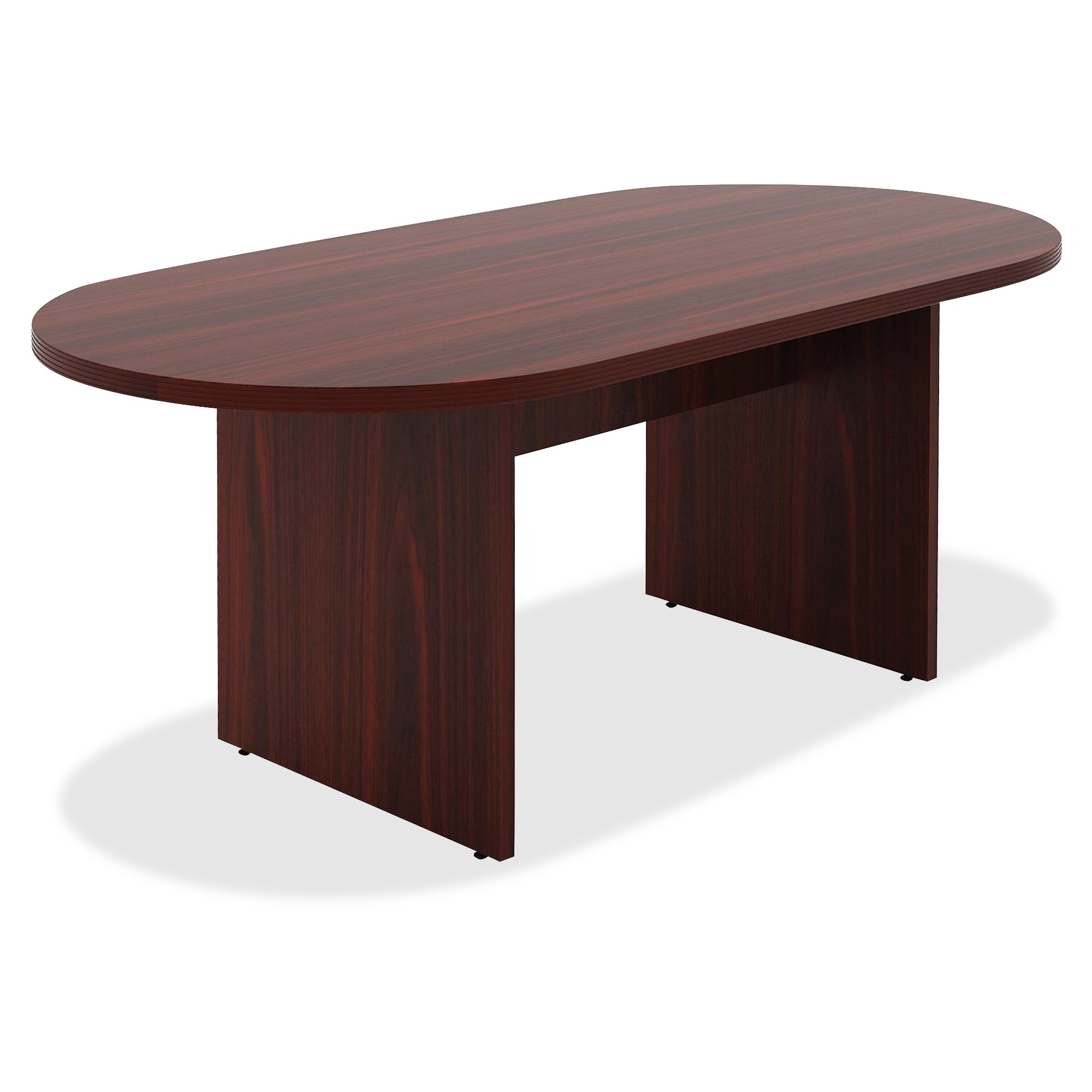 Oval conference table - Lorell Chateau Series Mahogany 6 Oval Conference Table Oval Top Slab Base 36 Table Top Length X 72 Table Top Width X 1 50 Table Top Thickness