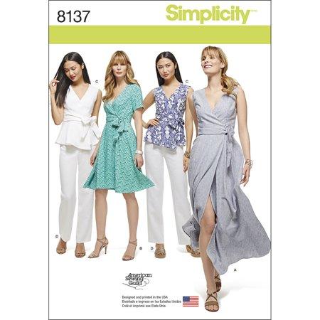 Simplicity Misses & Womens Wrap Dresses Top & Pants-10-12-14-16-18 - image 1 de 1