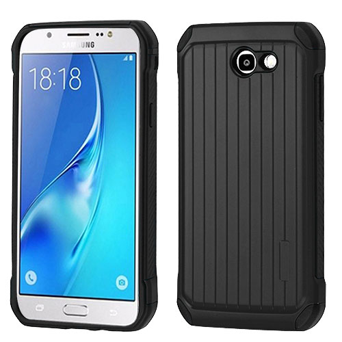 For Samsung Galaxy Halo/J7 Suitcase Hybrid Impact Armor Protector Case Cover