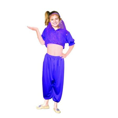 Harem Girl-Purple Seq, Chd Med - Arabian Harem Costume