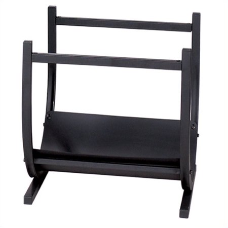 Pemberly Row Black Wrought Iron Log Rack