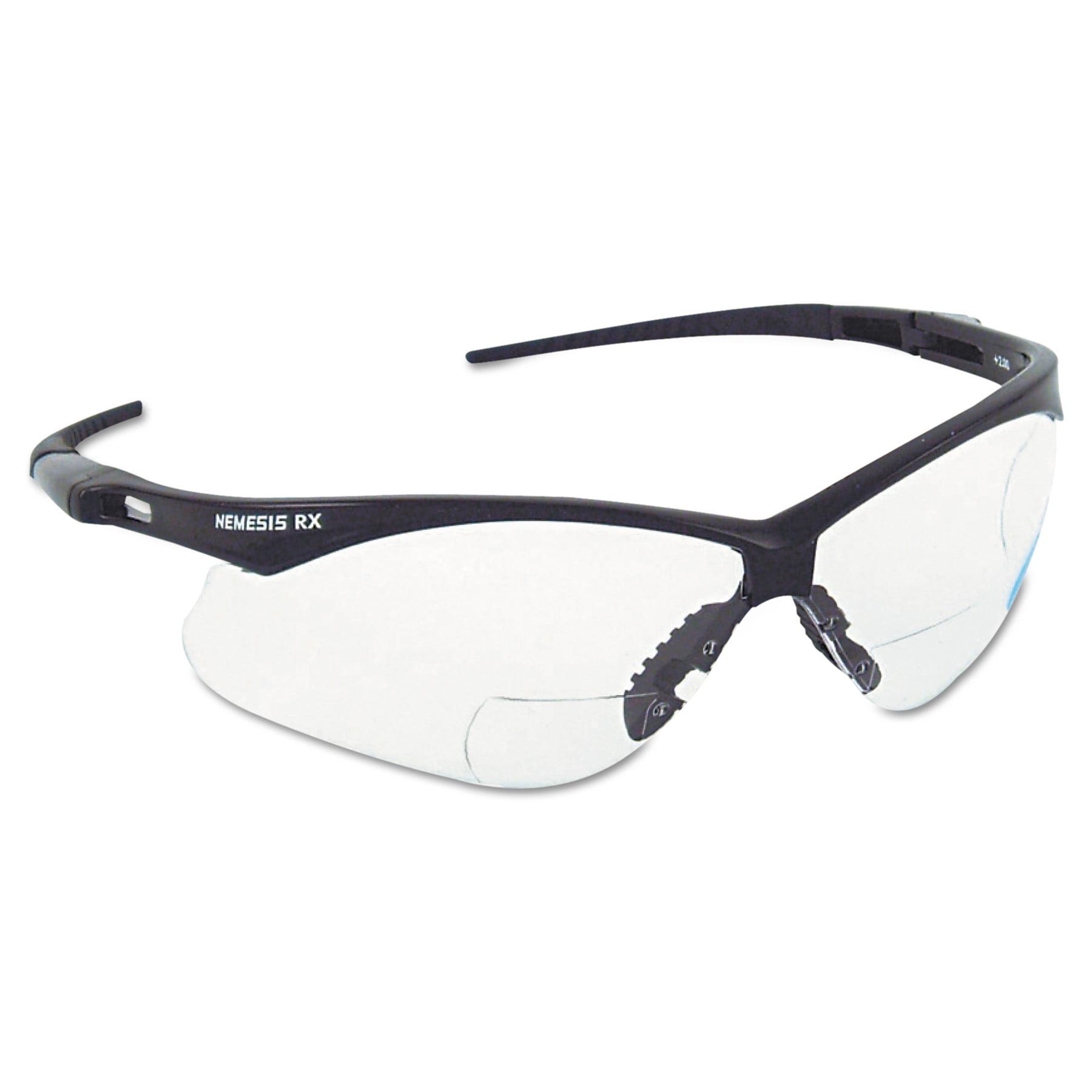 Jackson Safety* V60 Nemesis Rx Reader Safety Glasses, Black Frame, Clear Lens by Kimberly Clark