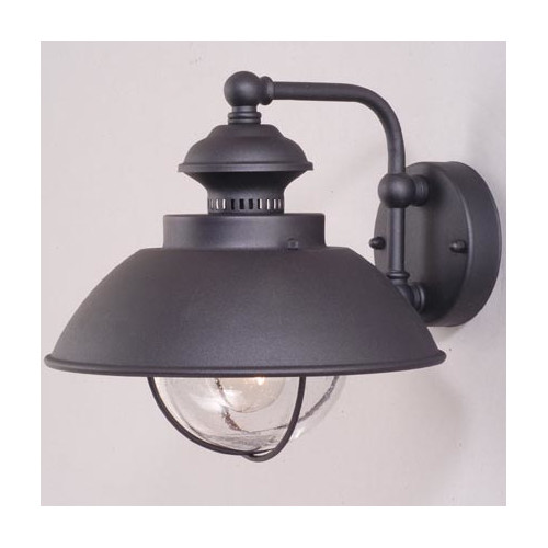 Nautical Outdoor Textured Black 10.25 in. Outdoor Wall Light