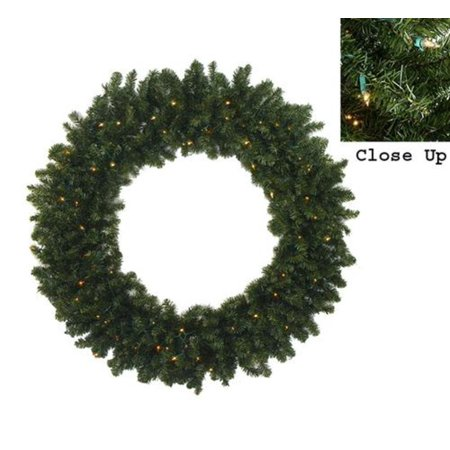 "Darice 60"" Prelit Commercial Canadian Pine Artificial Christmas Wreath - Clear Lights - Walmart.com"