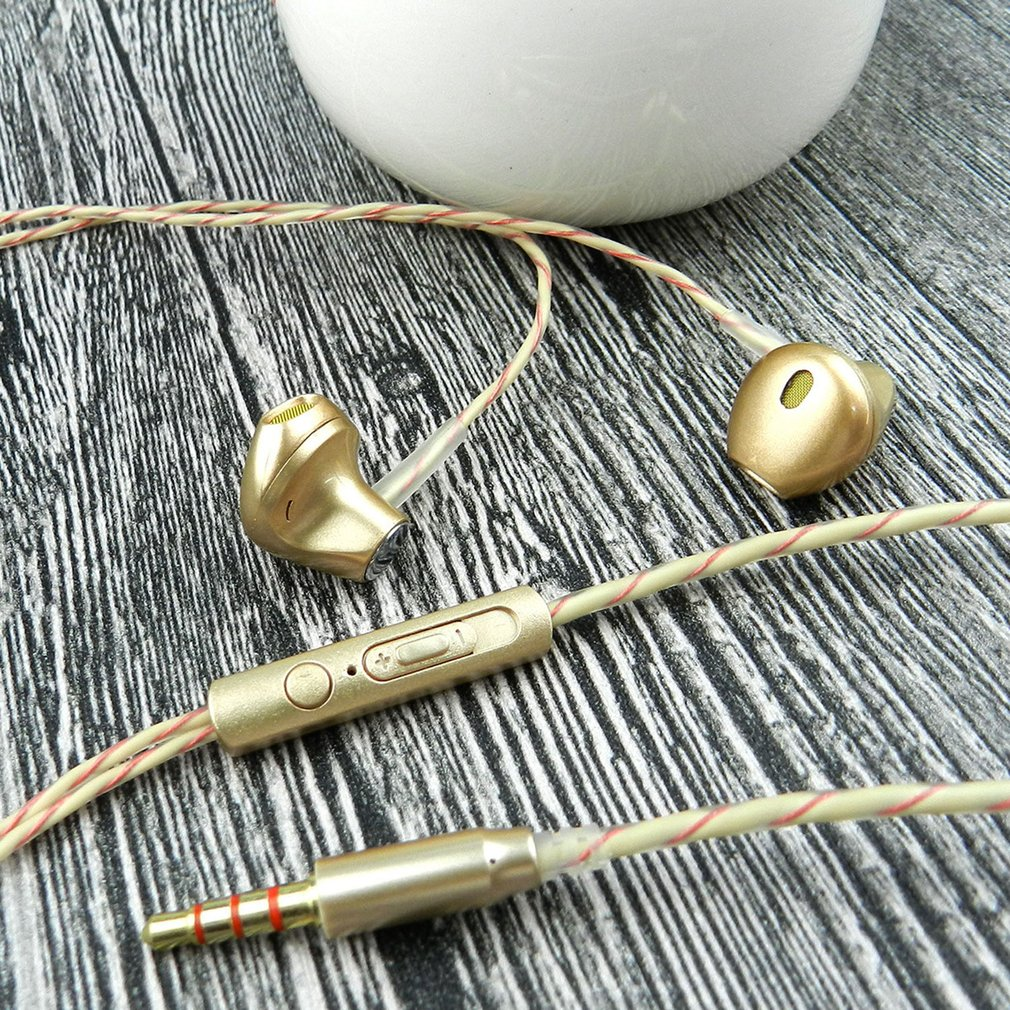 Super Bass In-Ear Wire Control Earphones 3.5MM Jack with Microphone Universal