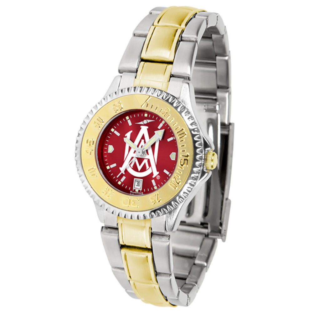 "Alabama A&M Bulldogs NCAA AnoChrome ""Competitor"" Women's watch (2-Tone Stainless Steel Band)"