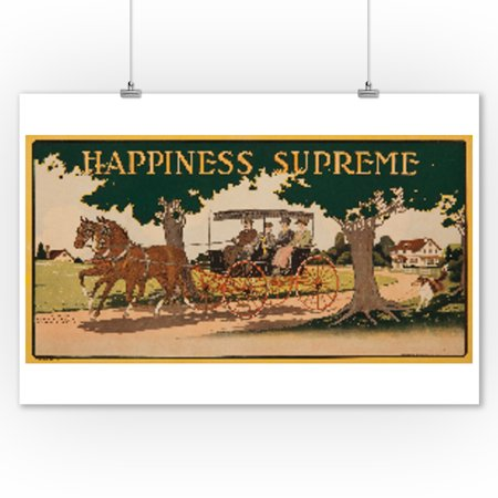 Happiness Supreme Vintage Poster Usa C  1916  9X12 Art Print  Wall Decor Travel Poster