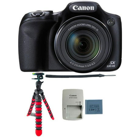 Canon PowerShot SX530 HS 16MP Digital Camera with Flexible Tripod