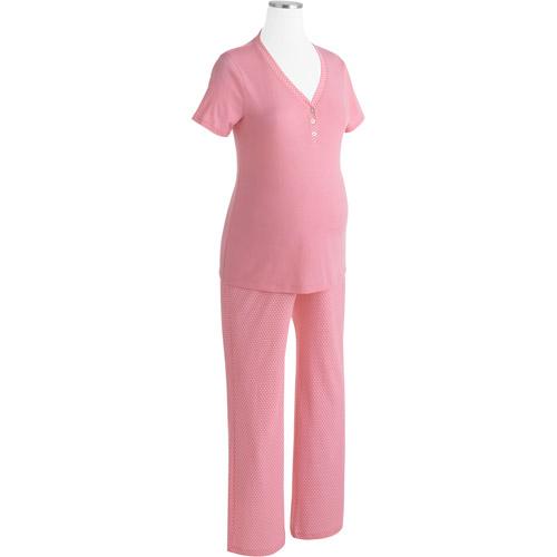 DF by Dearfoams Maternity Knit PJ Set