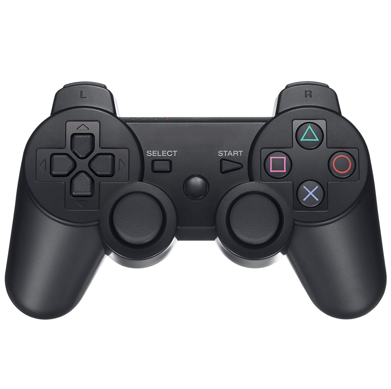 InSassy Wireless Bluetooth Game Controller (Black) for Sony PlayStation PS3
