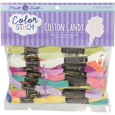 (Mill Hill Color Stitch Floss Starter Pack 24/Pkg-Cotton Candy)