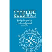 Good Life Journal Hardcover Blue W/ Compass Design