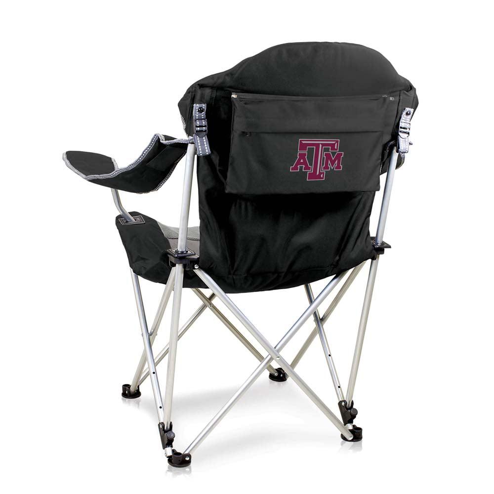 Texas A&M Reclining Camp Chair (Black)
