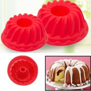 Micelec 2Pcs Spiral Ring Cooking Silicone Mold Bakeware Kitchen Bread Cake Decorate Tool