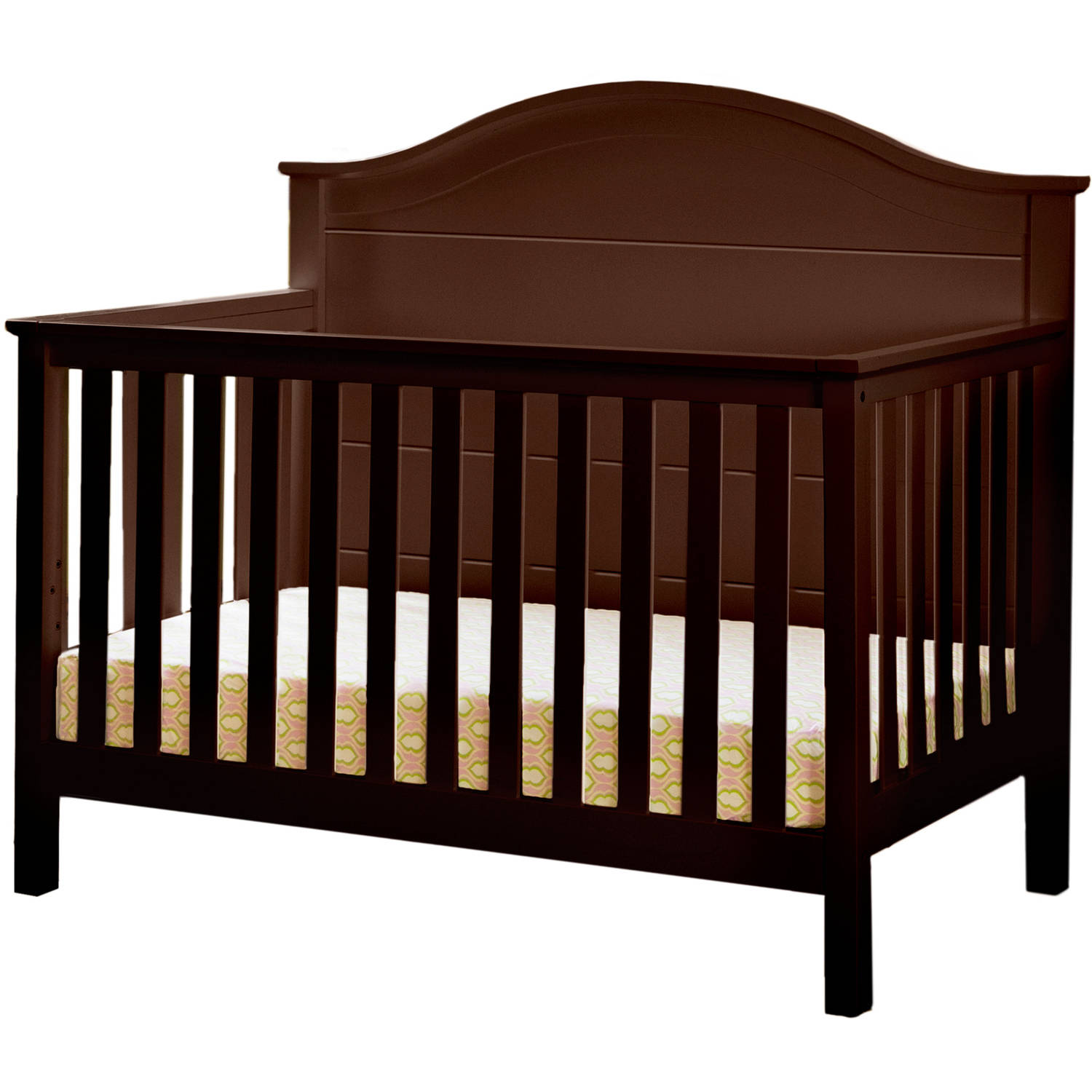 Lolly & Me Cottage 4-in-1 Convertible Crib Espresso