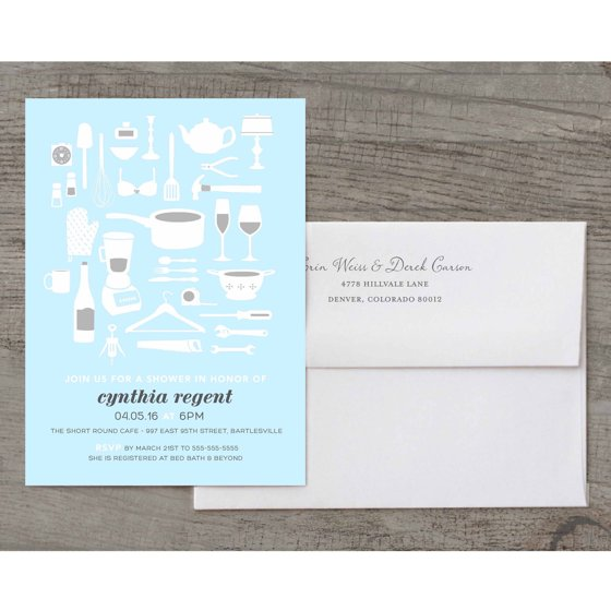 Shower gift deluxe bridal shower invitation walmartcom for Walmart wedding shower invitations