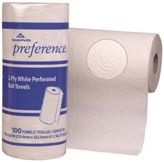 Preference Perforated Paper Towel Rolls, 2-Ply, White, 11X8.8 In.
