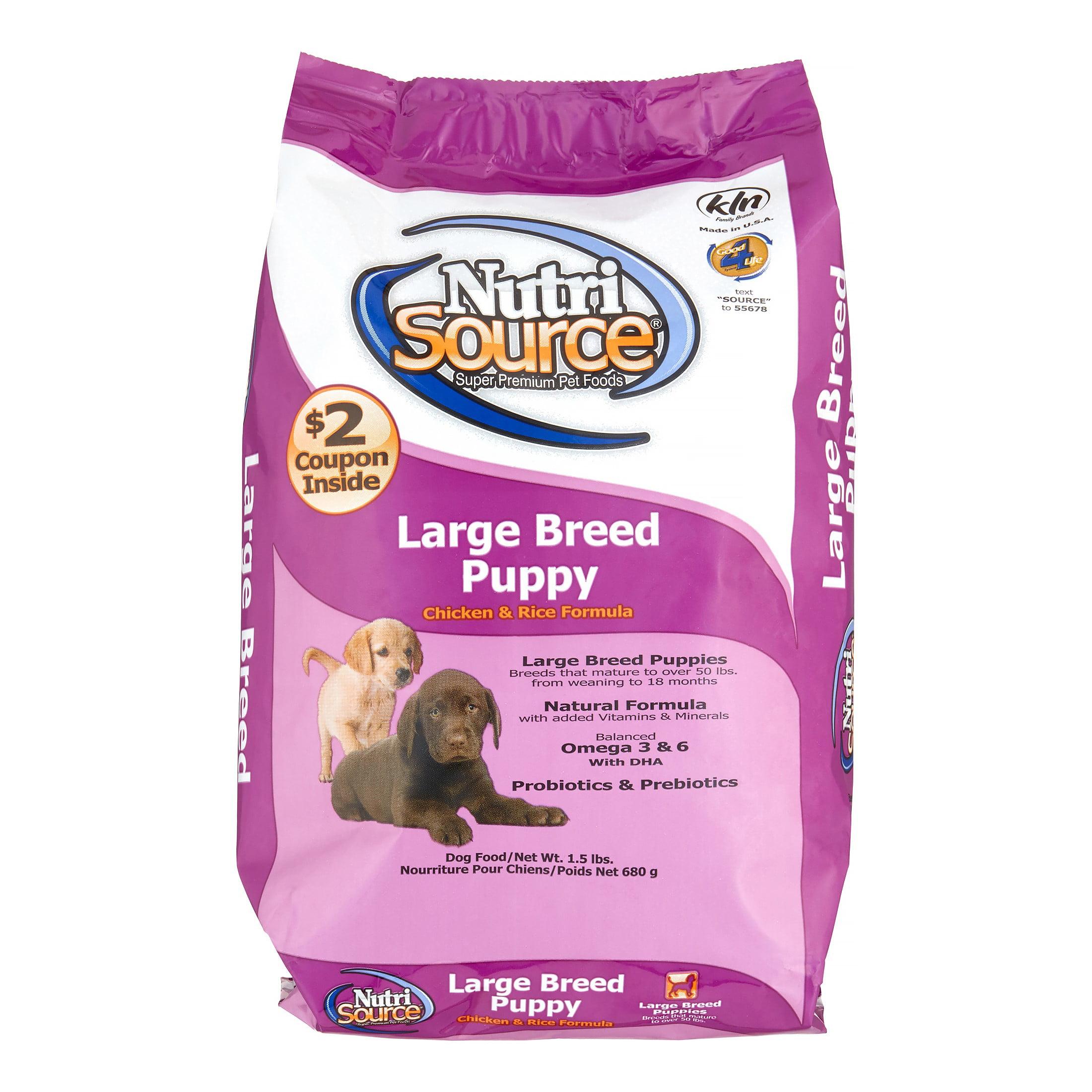 Nutrisource Large Breed Puppy Dry Dog Food 15 Lb Walmartcom