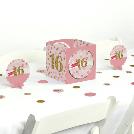 Sweet 16 - Birthday Party Centerpiece & Table Decoration Kit - Sweet Sixteen Centerpieces And Decorations