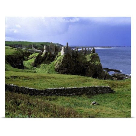 Great Big Canvas Ric Ergenbright Poster Print Entitled Dunluce Castle Rises From The Emerald Hills On Northern Irelands Antrim Coast