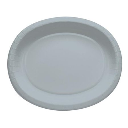 - Touch of Color 433281 12 In. Oval Platters, Shimmering Silver - Case of 96