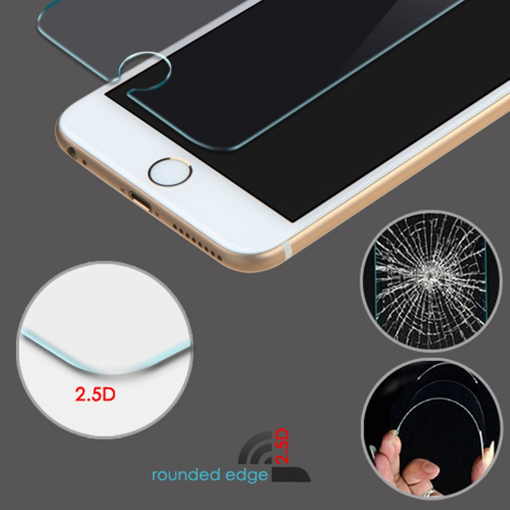 Insten 6-Pack Clear Tempered Glass LCD Screen Protector Film Cover For Apple iPhone 6 / 6s - image 2 of 3