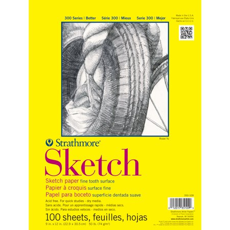 """Strathmore Sketch Paper Pad 11""""X14""""-50Lb 100 Sheets - image 4 of 4"""