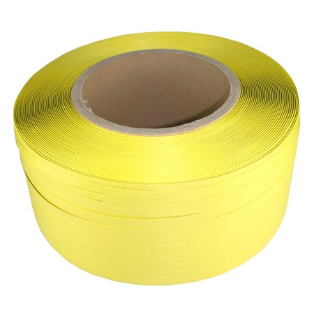 BROCK Poly Strapping Coil 600lbs Yellow Banding Strap 1/2