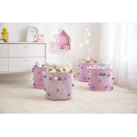 Urban Shop Pom Pom Storage Bin (Set of 4), Purple