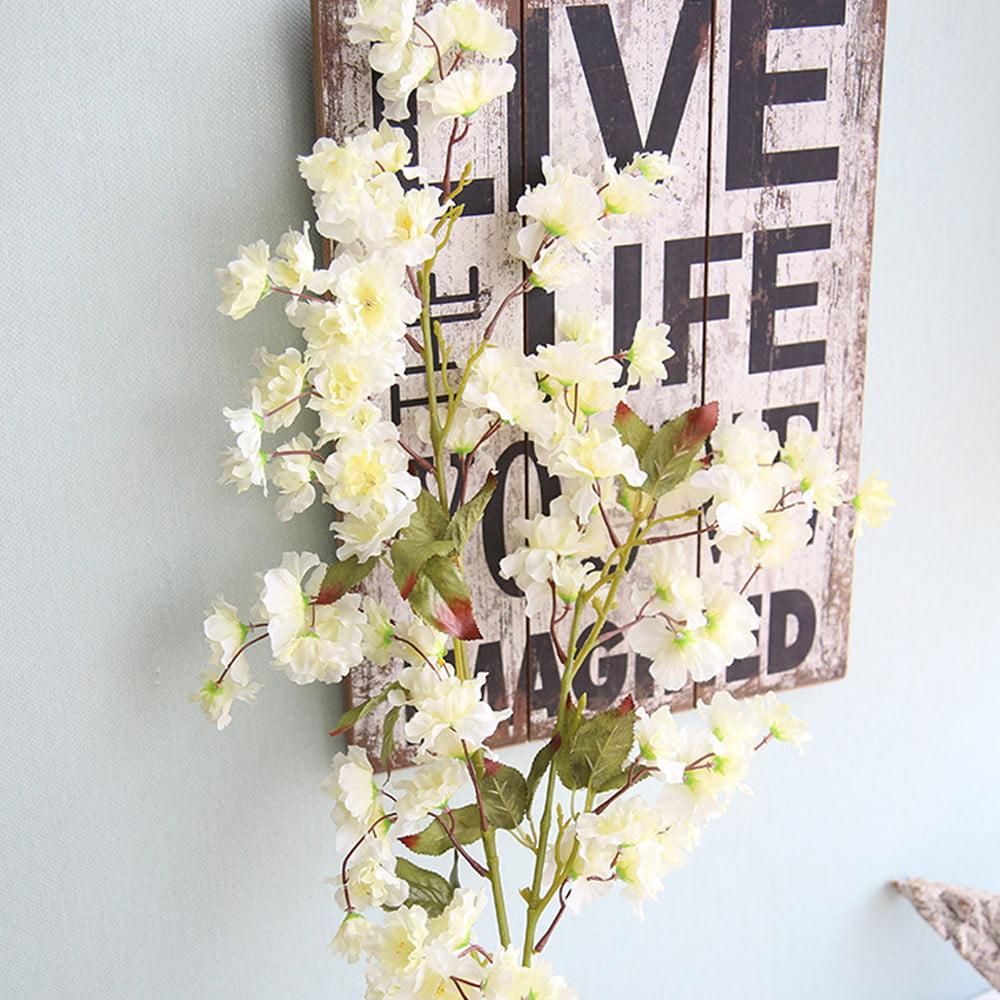 Mosunx Artificial Fake Cherry Blossom Silk Flower Bridal Hydrangea Home Garden Decor