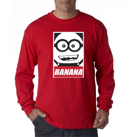 Trendy USA 630 - Unisex Long-Sleeve T-Shirt Minions Banana Bob 3XL Red Banana Republic Long Sleeve Shirt