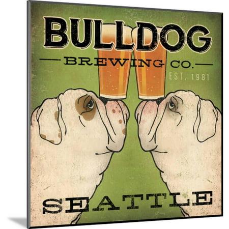 Bulldog Brewing Seattle Wood Mounted Print Wall Art By Ryan Fowler ()
