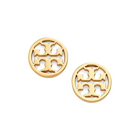 b16034850 Tory Burch Circle Logo Stud Earrings 16k Gold on Card with Dust Cover -  image 1 ...