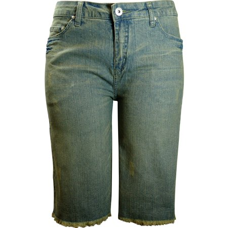 - Women's KIT Stretch Jean shorts vintage SB101-DT-3