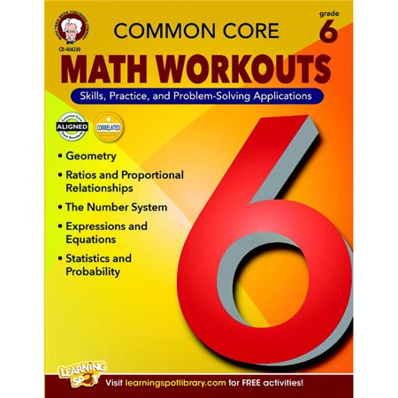 Mark Twain 1497371 Mark Twain Common Core Math Workouts Resource Book  44  Grade 6