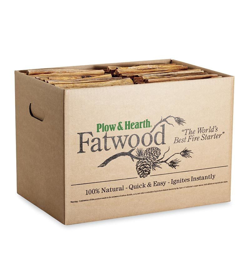 Easy-Start Fatwood Fire Starter, 25 lb. Box of Fatwood by Plow & Hearth