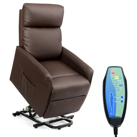 Costway PU Electric Lift Chair Power Recliner Reclining Sofa Lounge W/Remote Controller - Make Halloween Electric Chair