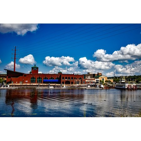 LAMINATED POSTER Urban Town Dubuque City Iowa Mississippi River Poster Print 24 x 36 ()